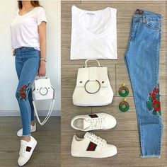 #ست_پیشنهادی_استیج سفارش_از_تلگرام_09210501408 @shoppingstage1 Çiçekler // Çanta 39.99TL Ayakkabı 69.99TL // 2li Kombin 89.99TL /// Kot 59.99TL Basic 19.99TL // Komple Kombin 159.99TL College Outfits, School Outfits, Chic Outfits, Fashion Outfits, Love Jeans, Jean Top, Fall Collections, Playing Dress Up, My Outfit
