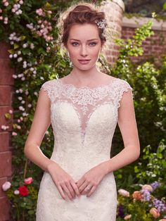 New Collection: Rebecca Ingram By Maggie Sottero Julie. Available at The Bridal Boutique, West Yorkshire. 01274 591452.