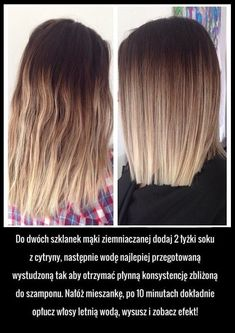 Sposób na proste włosy bez prostownicy! Daj odpocząć włosom...idealne rozwiązanie na lato! Beauty Care, Diy Beauty, Beauty Hacks, Pinterest Hair, Ombre Hair, Diy Hairstyles, Hair Hacks, Healthy Hair, New Hair