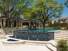 Riverbend Sandler Pools offers Geometric Pool Designs Dallas, Frisco and surrounding areas that homeowners can be proud of. Backyard Pool Landscaping, Backyard Pool Designs, Swimming Pools Backyard, Backyard Ideas, Swimming Pool Images, Small Pool Design, Pool Builders, Custom Pools, Dream Pools