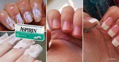 Sivilceler için göz damlası, el ve tırnak bakımı için sadece 2 adet aspirin yeter! :)