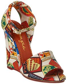 cheap for discount a0b81 39c2a Charlotte Olympia Mischievous Canvas Wedge Sandal,