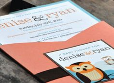 A Real Hoot Owl Shower Invitations