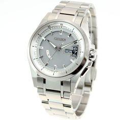 [シチズン]CITIZEN 腕時計 ATTESA アテッサ Eco-Drive エコ・ドライブ 電波時計 ダイレクトフライト DLC仕様 AT8044-56E メンズ