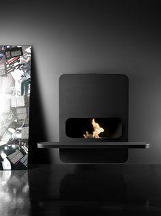 beautiful minimalistic design fireplace Wall B