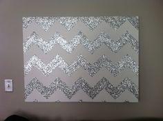 Glitter Chevron Canvas >>>> Living room