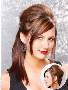 Hairdo for wedding, maybe add some loose curls in there, or some waves