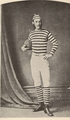 Australian rugby player in stripes, Antique Photos, Vintage Pictures, Vintage Photographs, Old Pictures, Vintage Images, Old Photos, Australian Rugby Players, Australian Football, Monsieur Madame