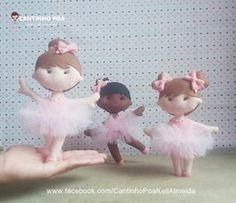 Little Ballerinas - free pattern Felt Doll Patterns, Stuffed Toys Patterns, Diy Home Crafts, Felt Crafts, Doll Tutorial, Felt Dolls, Felt Ornaments, Fabric Dolls, New Baby Products