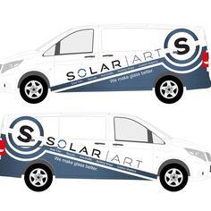 Partial Van Wrap design for Solar Art by warsvictim