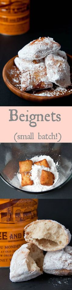 (dessertfortwo.com) A SMALL BATCH of beignets. These taste just like the ones in New Orleans!
