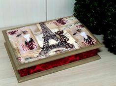 Porta Bijoux Mod2 Paris Rouge | Dona Abelha | Elo7