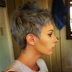 Kurzhaarfrisur für Graues Haar
