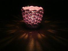 crochet jar candle cosy