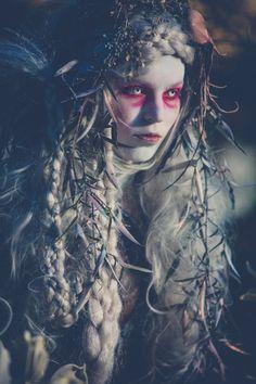 "darkbeautymag:  ""Dark Water Mermaid: Netted Albino"" —Photographer: Dejan DimkovskiStylist/Designer: q.phiaSet Designer: Shari CornesHair: Jacqui Sinacore-NolandMakeup: Ariel MoonSpecial Effects/Orgnaizer: Amie HanaModel: Greta Rupeika"
