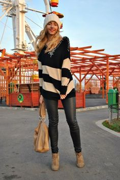 oversized sweater and leggings