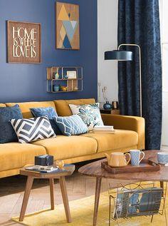 Maison Du Monde Tendance Portobello Living Room Decor Navy Bluenavy