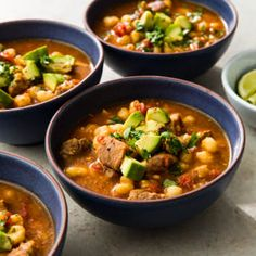 This hearty, comforting, lively Mexican soup deserves a wider audience. Cookbook Recipes, Meat Recipes, Slow Cooker Recipes, Crockpot Recipes, Easy Pork Posole Recipe, Best Chicken Ever, Cooks Illustrated Recipes, Oven Baked Chicken, Slow Cooker Pork