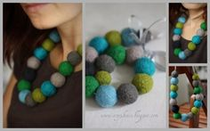 moje kolory Crochet Necklace, Handmade, Jewelry, Fashion, Crochet Collar, Hand Made, Jewellery Making, Jewlery, Jewelery