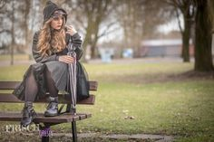Fashion photo shoot for my blog: a hoodie, an Alexander McQueen dress and an umbrella by Moschino. See more here: https://frischgelesen.de/jugendweihekleid-und-hoodie/