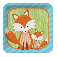 Forest Fox 7 inch Square Lunch Plates/Case of 96