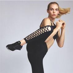 Rebel Black Quick Drying Fitness Leggings