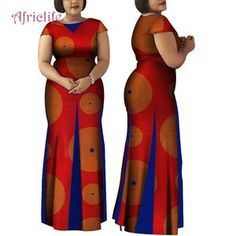 Women African Clothing Bazin Riche Robe Africaine Dress New Arrival 2019 Women Plus Size Pure Cotton Long Mermaid Dress Long African Dresses, African Fashion Skirts, African Print Dresses, African Print Fashion, African Dress Patterns, Long Mermaid Dress, Traditional African Clothing, Africa Dress, African Attire