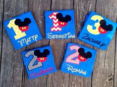 Personalized Mickey Mouse Birthday Shirt, 1st, 2nd, 3rd- Applique, Customized, Embroidered, Name, Disney, Yellow Polka Dot