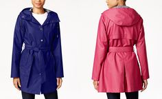 Laundry by Design Hooded Water-Resistant Belted Raincoat - Coats - Women - Macy's