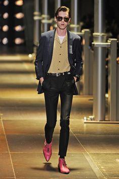 Men's Shoe Trend: Bright Colors (Saint Laurent Men's RTW Spring 2014)