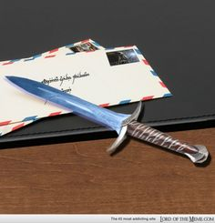 more like a letter opener really