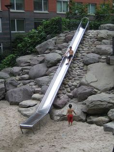 teardrop park, battery park city | i'm not into playgrounds much, but i want to take the kids here