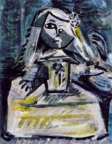 We can even see a portrait of Jacqueline, Picasso's future wife in the last version he painted – 58 in total – of Las Meninas.