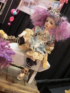 Art doll - Queen Mari by Maureen Carroll