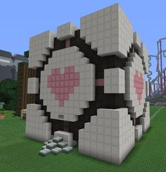 minecraft statue house - Google Search