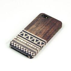 Wood Print Geometric Unique iPhone Case iPhone 5 by IdeaCase