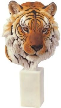 "Bengal Tiger Collectible Wild Cat 9.5"" Figurine Sculpture - Free Shipping & Photon Gift"