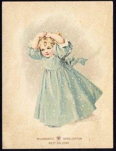 Willimantic spoo cotton trade card   Maud Humphrey 1890s