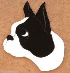 Boston Terrier puppy dog. Stained glass precut kit. Great for suncatcher or your mosaic inlay project.