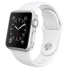 Apple Watch 38mm Aluminum Case with White Sport Band