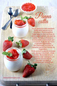 Strawberry panna cotta recipe by La tana del coniglio, via Flickr