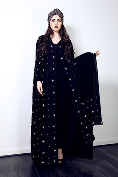 Today here we familiarized long cape abaya collection. Nice abaya fully covered up your body and youGold Chain Abaya with lace insertAre you searching for a unique online UK store for Abayas, try Modest Rail, your one stop solution for a whole new er Islamic Fashion, Muslim Fashion, Modest Fashion, Abaya Dubai, Mode Abaya, Mode Hijab, Modest Wear, Modest Outfits, Black Abaya