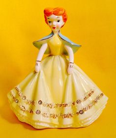Retro Red Head Pretty Girl Lady Woman Figurine Vintage Rare Sale Napco A1873 | eBay