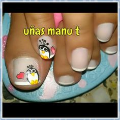 Uñas de pies Pedicure Designs, Toe Nail Designs, Nail Polish Designs, Nails Design, Pretty Toe Nails, Valentine Nail Art, Nails For Kids, Painted Nail Art, Feet Nails
