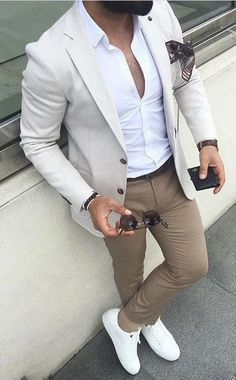 Wedding Suits Men Casual Jeans 67 New Ideas Blazer Outfits Men, Stylish Mens Outfits, Blazer Fashion, Suit Fashion, Fashion Menswear, Mens Fashion, Sneakers Fashion, Smart Menswear, Groomsmen Outfits