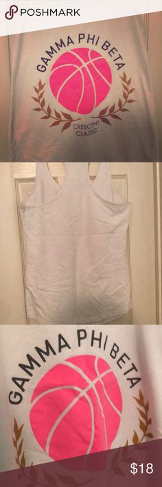 Gamma Phi Beta Moonball Tank Size: M Gamma Phi Beta Moonball Tank. Worn a handful of times but in great condition! Next Level Apparel Tops Tank Tops