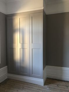 Ikea Pax Hack, Alexandra Bring, Grey Woodwork, Parents Room, Pax Wardrobe, Bright Rooms, Cool Apartments, Painted Floors, House Rooms