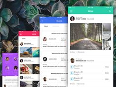 Colorful iOS app screens by Visual Hierarchy
