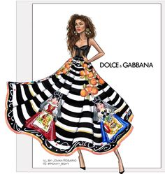 #Zendaya for Dolce Gabbana by Jovan Rosario @ponyy_boyy #fashionillustrations   Be Inspirational ❥ Mz. Manerz: Being well dressed is a beautiful form of confidence, happiness & politeness