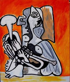 Female Musician 1 [Cubism-A449] - $500.00 painting by oilpaintingsartmaker.com